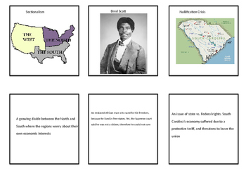 Sectionalism Flash card or memory