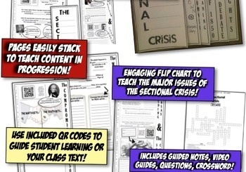 Sectionalism Interactive Notebook! Engaging Resource on the Sectional Crisis!
