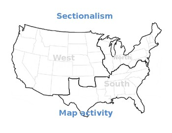 sectionalism map activity