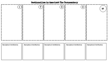 Sectionalism Performance Assessment