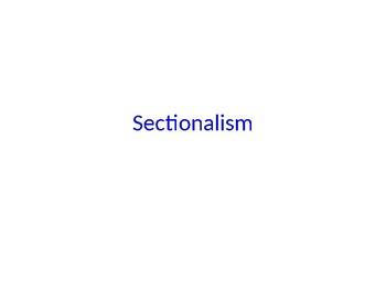 Sectionalism Presentation