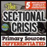 Sectionalism Reading Passages | Differentiated Primary Sources American History