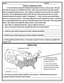 Sectionalism Stations