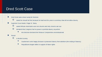 Sectionalism and Reform Powerpoint