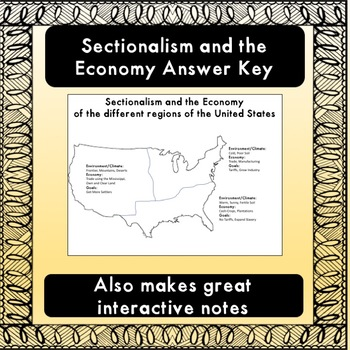 Sectionalism and the US Economy (Era of Good Feelings) Worksheet
