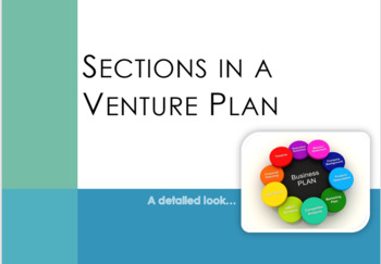 Sections in a Venture Plan