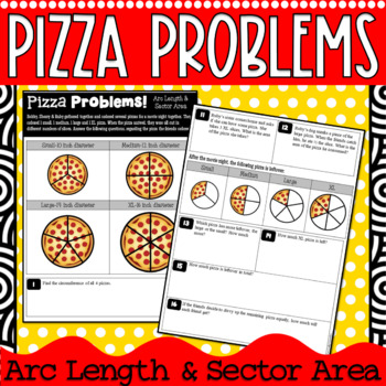 Sector Area Arc Length Pizza Problems Geometry Circles Tpt