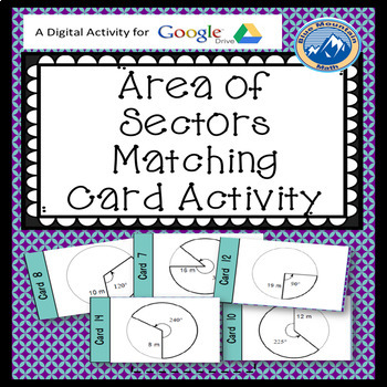 Sector Area Matching Card Google Activity Plus Quiz