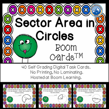 Sector Area of Circles Boom Cards--Digital Task Cards