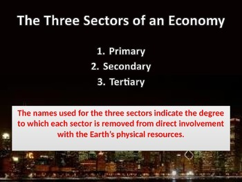 Sectors of Economy. Urban Geography Powerpoint