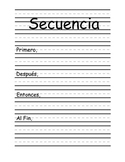 Secuencia-Sequence of Events SPANISH- FULL PAGE Graphic organizer