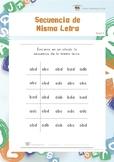 Secuencia de Misma Letra (Habilidades de Percepción Visual)