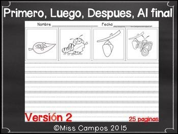 Secuencias Temporales - PRIMERO, LUEGO, DESPUES, AL FINAL