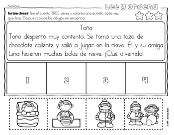 Secuencias con dibujos para los más pequeños - Invierno