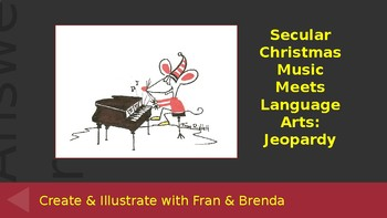 Secular Christmas Music Meets Language Arts: Jeopardy