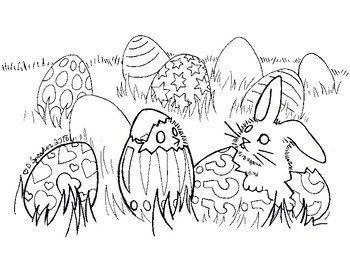 Secular Easter Coloring Sheet