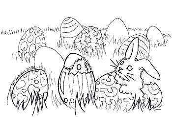 Secular Easter Coloring Sheet