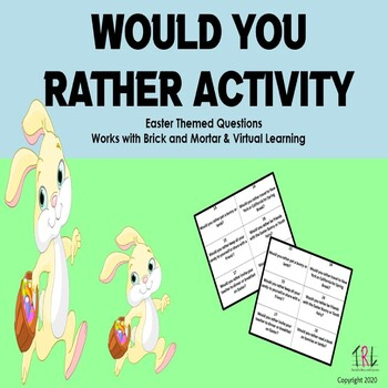 Secular Easter Themed Would You Rather Activity Cards