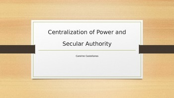 Secularization of Power and Monarchs PowerPoint for AP Eur