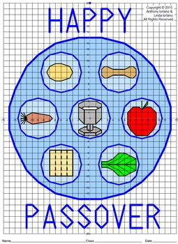 Seder Plate Mystery Picture (4 Quadrants)