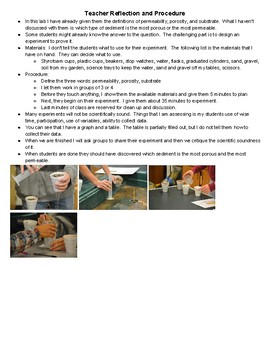 Sediment Permeability and Porosity Lab