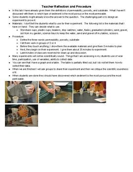 Sediment Permeability and Porosity Lab