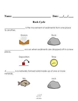 Sedimentary Rock Assessment Visual Helper Autism VAAP SOL ES.5 HSS-EMP 2
