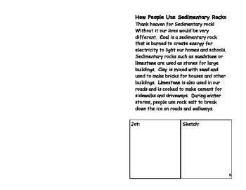 Sedimentary Rock Booklet
