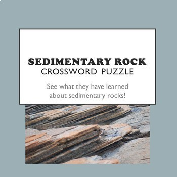 Sedimentary Rock Crossword Puzzle