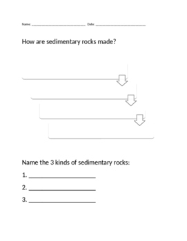 Sedimentary Rock Exit Ticket