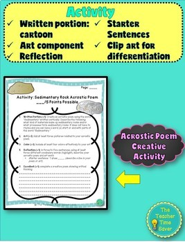 Sedimentary Rock Lesson (presentation, notes, and activity)- Rock Unit