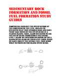 Sedimentary Rock and Fossil Fuel Formation Study Guide