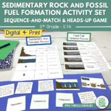 Sedimentary Rock & Fossil Fuel Formation Sequence Activity and Heads-up Game