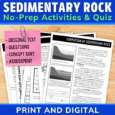 Sedimentary Rock and Fossil Fuels Passages with Comprehens