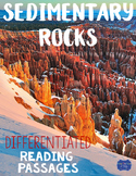 Sedimentary Rocks Differentiated Reading Passages & Questions