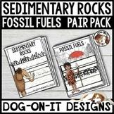 Sedimentary Rocks Fossil Fuels Bundle TEKS 4.7B, 4.7C, 5.3B, 5.7A, 5.7B