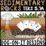 Sedimentary Rock Card Games TEKS 4.7B, 5.7A, 5.7B