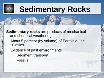 Sedimentary Rocks Power Point