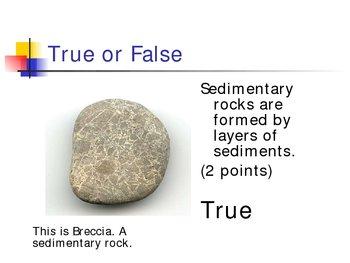 Sedimentary Rocks - Skittles Game