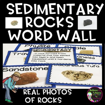 Sedimentary Rocks Word Wall Cards