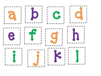 See & Spell Word Match Activity (Prek, Kinder)