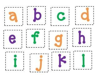See & Spell Word Match Activity (Prek, Kinder)