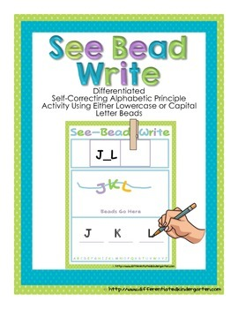 See-Bead-Write: Differentiated Self-Correcting Common Core Letter Fun