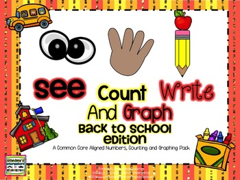 See Count Graph:  Back To School Edition!  A Common Core M