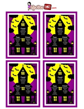 See, Feel, Hear - Halloween Adjectives Poster