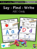 See- Find and Write ABC's