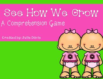 See How We Grow Comprehension Game Kindergarten