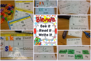See It, Read It, Write It- BLENDS  {Word Work Centers & Printables}