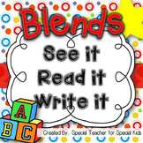 See It, Read It, Write It- BLENDS  {Word Work Centers & Pr