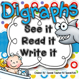 ** See It, Read It, Write It-- DIGRAPHS {Word Work Centers and Printables}